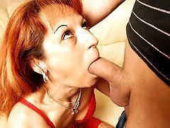This horny housewife gets an anal creampie