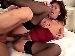Mom sucks dick n fucks from behind