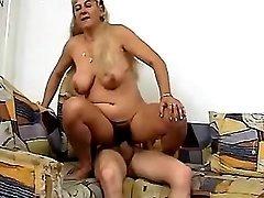 Hot grandma gets cool sex amusement