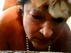 Granny sucking cock with pleasure