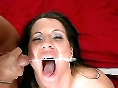 Busty mature fucks and gets facial