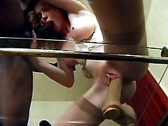Milf gets big dick n dildo in cunt
