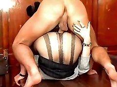 Lewd matures n guys enjoy wild orgy
