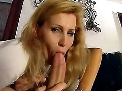 Blond mature takes hard ass nailing