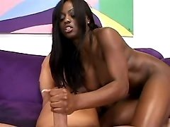 Horny black mom model filmed in sex clips