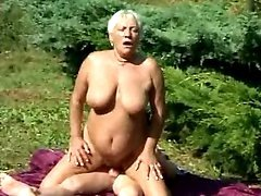 Granny goes wild in nature