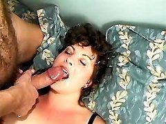 Yummy plump mom gets messy cum jet