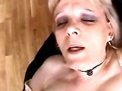 Mature blonde in lingerie gets fuck