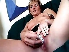 Hot mom stripping and teasing pussy
