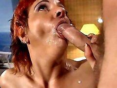 Perky redhead mom shoots home porn