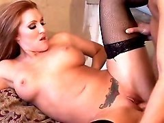 Sex with vamp lady in sexy lingerie