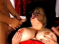 Fat matron gets double penetrated