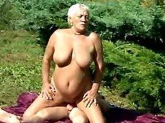 Fat granny fucking picnic