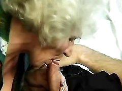 Granny sucks young cock