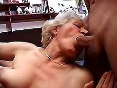 Old whore sucks hard cocks by turns