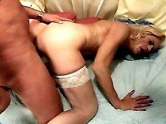 Lustful man drills naughty granny