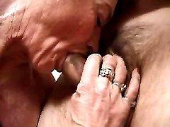 Granny slut sucks cocks