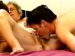 Guy and grannies in orgy