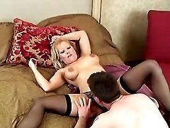 Lustful mature throats fresh cock