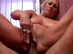 Hot granny licked and fucked in bed