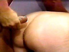Lusty grandma gets cumload on ass