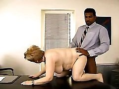 Fat old secretary fucked