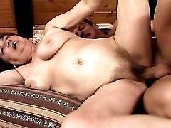 Horny brunette mom fucked