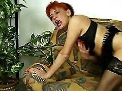 Guy drills redhead milf