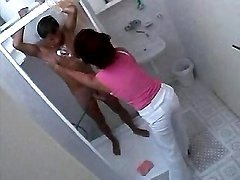 Mom washes guy in shower