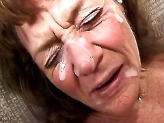 Hungry granny gets jizz