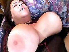 Giant busty grandma fucks