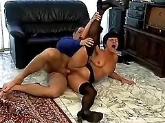 Spoiled granny sucks cock and fucks