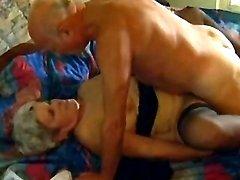 Grey haired granny fucked