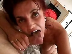 Milf sucks young cock