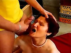 Brunette mature gets facial after sex in all poses