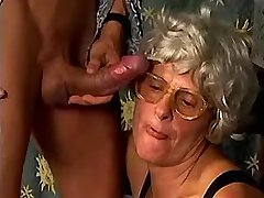 Hot greyhaired granny fucks in diff poses on floor