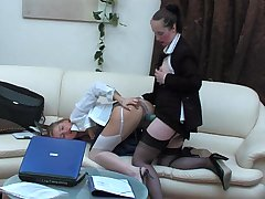 Judith&Susanna pussylicking mature on video