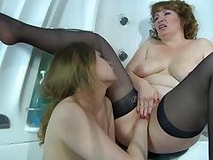 Flo&Alana mature lesbian movie