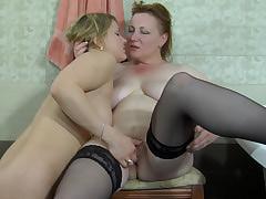 Viola&Megan lesbian mature video
