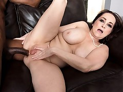 There's a big, black cock in Veronika's ass